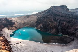 Crater of Gorelii volcano by Chrysomela