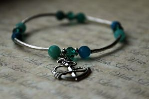 Turquoise Nautical Sailor Bangle by Clerdy
