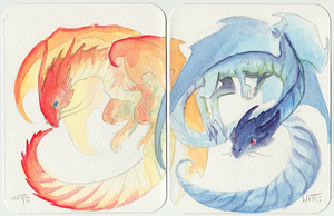 Daily Dragon 120 + 121: Diptych I by hexink
