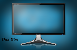 Deep Blue Wallpaper by ~draco23hack by Draco23hack