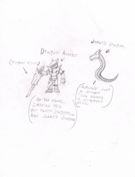 Dragon hunter and joker's dragon. by SecretBoss88