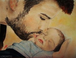 Pique and Milan, his son by LORMarie44
