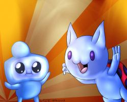 Catbug And Jelly Kid by megadrivesonic