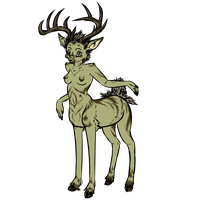 Deer furry centaour -McWeebers- by mallanmissan