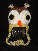 Owl hat for a newborn by Crochet-by-Clarissa