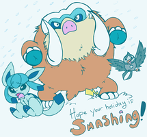 Mamoswine - Poke Secret Santa by denkimouse