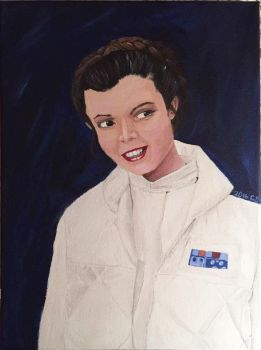 Leia Painting by ccolors95