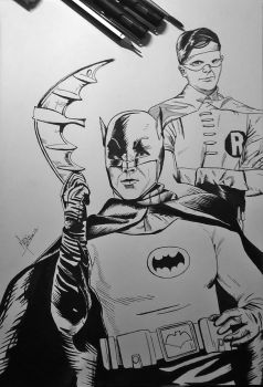 Adam West and Burt Ward  INK by MaikeLaise