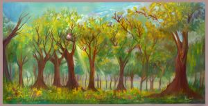 The gouache forest by AlineMendes