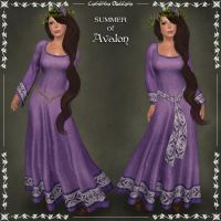 SUMMER of Avalon Celtic Dress by Elvina-Ewing