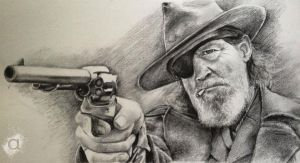 True-grit-original by atish-portraiture