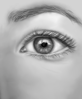 Realism Digital Painting number 1: Eye by Dex91