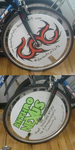 Bike Polo Wheel Covers by CorsaBlue