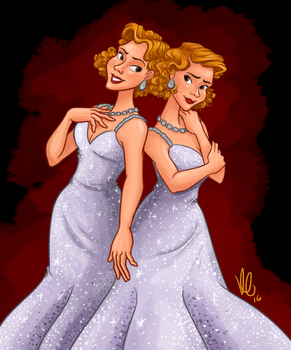 Ladies of Theatre: Daisy and Violet Hilton by Swirk