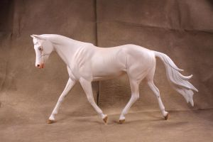 Custom painted Breyer Strapless to cremello by arcadian7