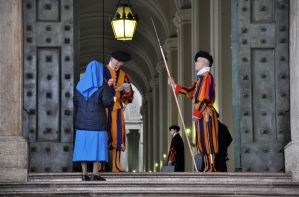 Swiss Guard with Nun by sushi-robots