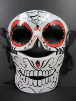 Day of the Dead leather mask by maskedzone