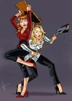 Death Becomes Her Tag Team by MrOrozco