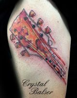Guitar Tattoo by IAteAllMyPaste