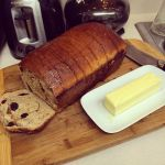 Cinnamon Raison honey swirl bread by Deathbypuddle