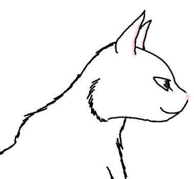 Cat profile View Lineart by emberstarfireclan