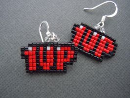 Mini 1up Pixel Earrings by Pixelosis