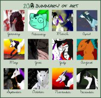 2012 Art Summary by ForTheLoveOfWalrus