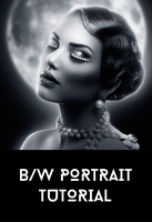 Black and White Portrait Tutorial by AbbeyMarie
