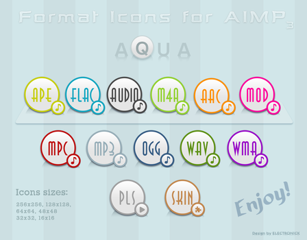 AQUA Icons by ELECTRON1CK