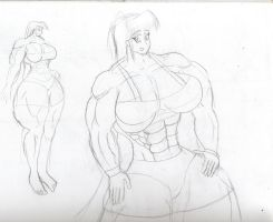 A muscle gal first draft by Feyzer