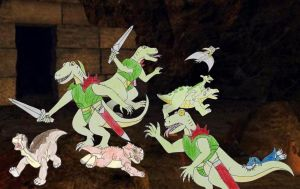 Land Before Time gang and Lizalfos by Animedalek1