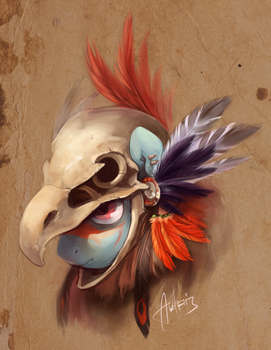 Skull (Eagle) by Audrarius