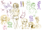 BICP Sketchpile - Earrings by ErinPtah