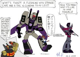 Noriko and Blitzwing by vmv-81