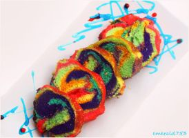 Rainbow Lemon Finger Cake by theresahelmer