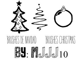 Brushes christmas-brushes navidad by mjjj10