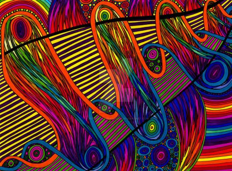 Psychedelic Colourful Abstract 247 by CHoare