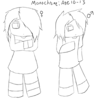 Young Monochrome Both Genders Age 10-13 by MonochromeFuji
