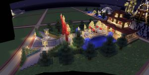 Plot World--Server Documentation--Asian House by MinecraftPhotography