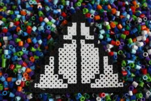 Perler Beads- Deathly Hollows Sign by Puppylover5
