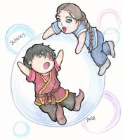 Zutara - Stuck in a Bubble by Satori-Blackthorn