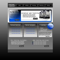 Hosting company web template by Player-Designer