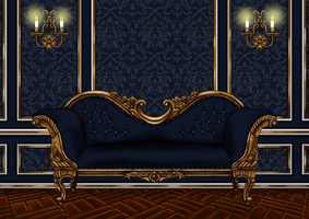 Regal Room in Blue w Blue Sofa PNG by Yagellonica