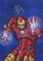 Iron Man Sketchcard by MJTannacore