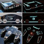 Custon TRON legacy themed Nintendo 64  by Zoki64
