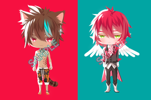 [Leo//Sion]Adoptables Auction 1 [CLOSED] by KidCurious