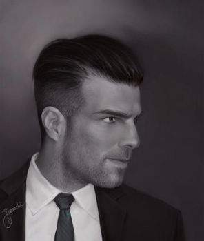 HOMME III :: Zachary-Quinto by NecroV