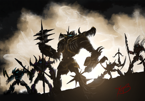 Dinobots! Tonight, we dine in Hell! by Zhorez1321