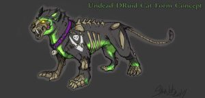 Undead Feral Druid Cat by StarNob