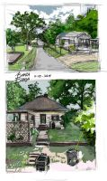 Two Houses in Arkansas - Sketch 11-10-2014 by DigitallyInking